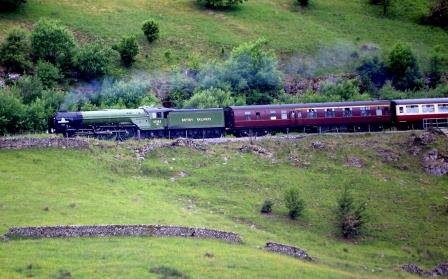 Tornado train passes Wild Boar fell